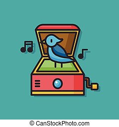 music box toy vector icon