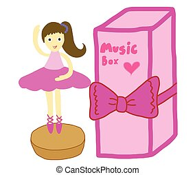 music box with dancing ballerina