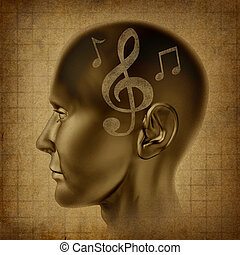 Music brain as a musical mind as a creative genius with...