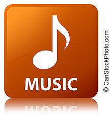 Music brown square button