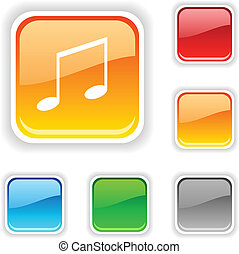 Music button.