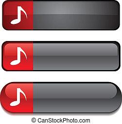 Music button set.