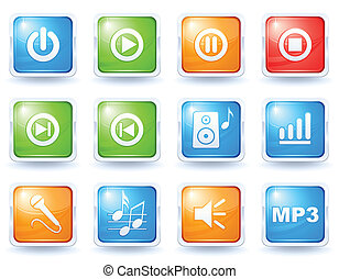 Music buttons collection