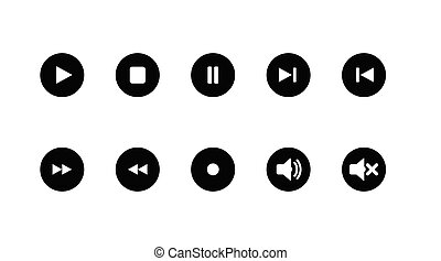 Music Buttons Set