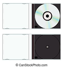 Music or computer cd with plastic case open and empty
