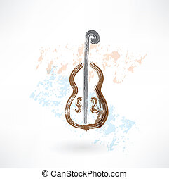 music cello grunge icon