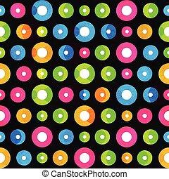 music circle seamless pattern