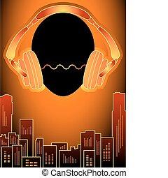 Music city in orange