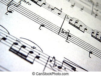 Music - Close up;music score
