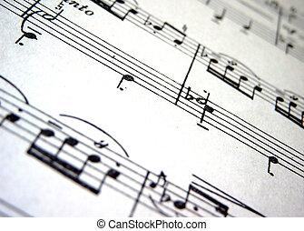 Music - Close up;music score