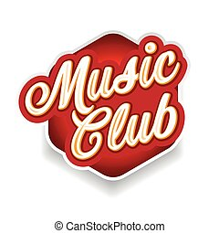 Music Club sign lettering vintage