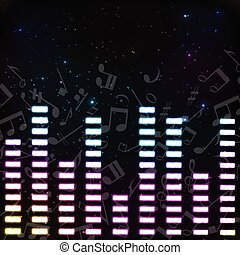 Music Colored Background