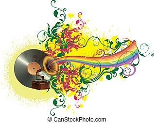 Music colors and rainbow