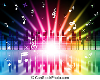 Music Colors Background Shows Instruments Songs And...