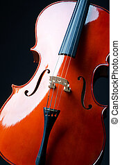 Music concept- close up of cello