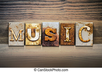 Music Concept Letterpress Theme