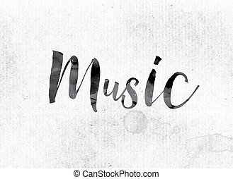 Music Concept Painted in Ink