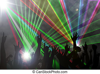 Music concert laser beam lighting