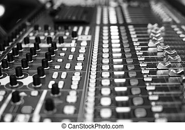 Music console - Sound, music console for dj or sound ...