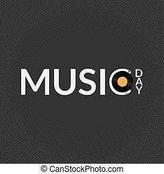 Music day card illustration