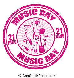 Music day stamp