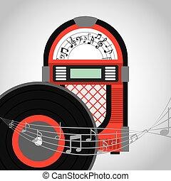 Music Design - Music Vintage design over white background...