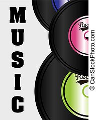 music design - Music concept design, Vector illustration