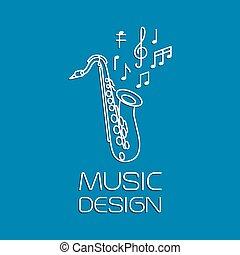 Music design with alto saxophone