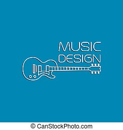 Music design with electric guitar