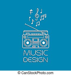 Music design with magnetic cassette player