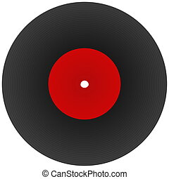 music disk - disk record for music with blank label isolated...