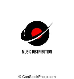 music distribution logo vector for your company or brand