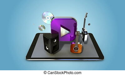 Music download internet service function for Smart phone....