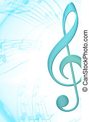 Music - blue clef