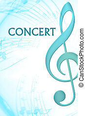 Music - clef in concert