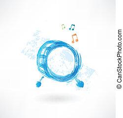 music drum grunge icon