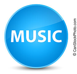 Music elegant cyan blue round button