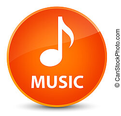 Music elegant orange round button