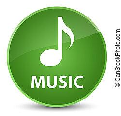 Music elegant soft green round button