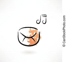 music envelope grunge icon