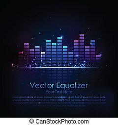Music Equaliser - illustration of music equaliser bar in...