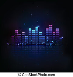 Music Equaliser - illustration of music equaliser bar in ...