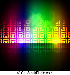 Music Equalizer Background Means Volume Beats Display - ...