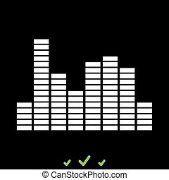 Music equalizer it is white icon .