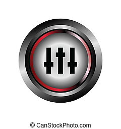 Music Equalizer mixer icon vector