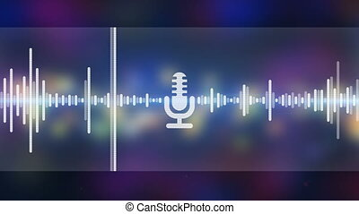 Music equalizer party background seamless loop
