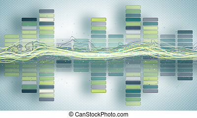 music equalizer with curves abstract illustration
