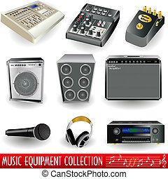 Music equipment - A collection of music equipment icons -...