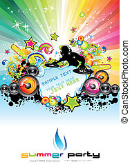 Music Event Abstract Background - Musical Event Flyer With...