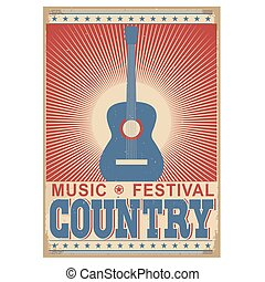 music festival background with guitar. Vector isolated on ...